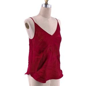 floreat Loved by Anthropologie Red Crinkle Tank